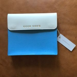 """Anthropologie """"Good Vibes"""" Clutch"""